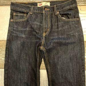 Levi's 505 straight leg blue jeans- 30x30